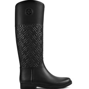 EUC Tory Burch Marion Quilted Rain Boots